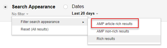 AMP Article Rich Results