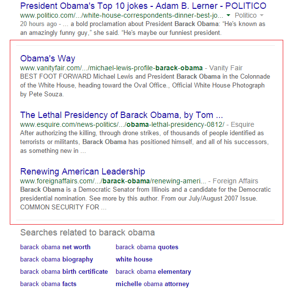 In-depth articles for Barack Obama