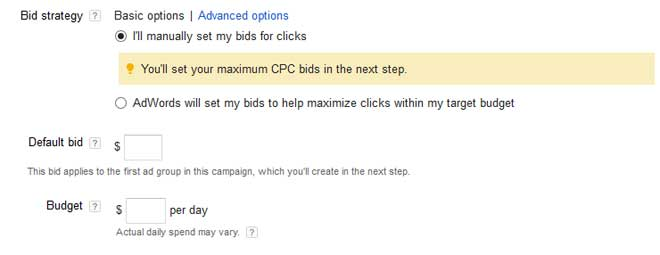 Adwords Bid Strategy