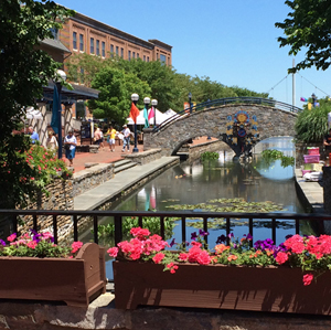 Carroll Creek in Downtown Frederick, Maryland