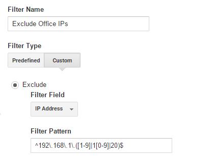 Exclude range of internal IPs