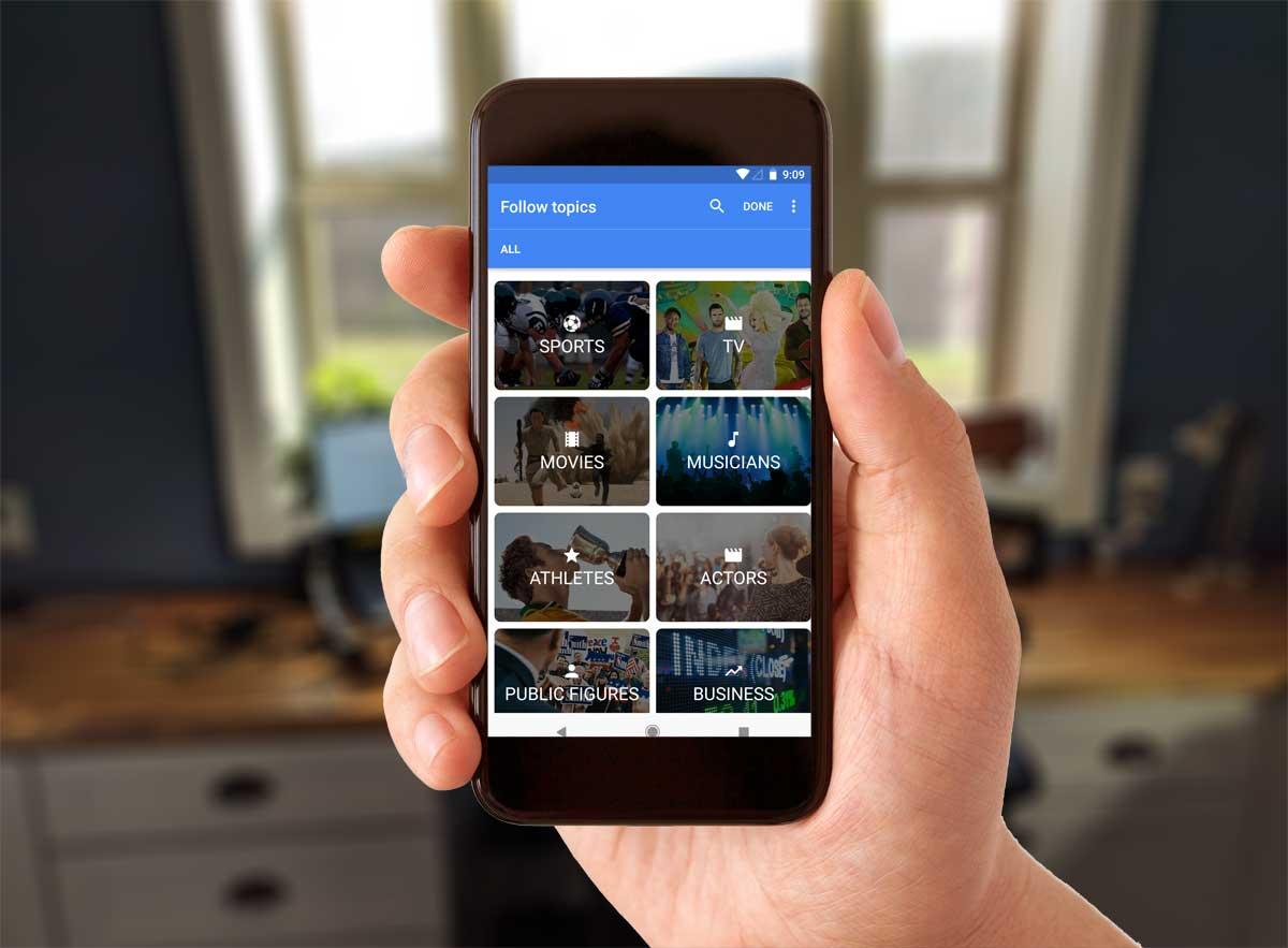Google App: Customize Feed