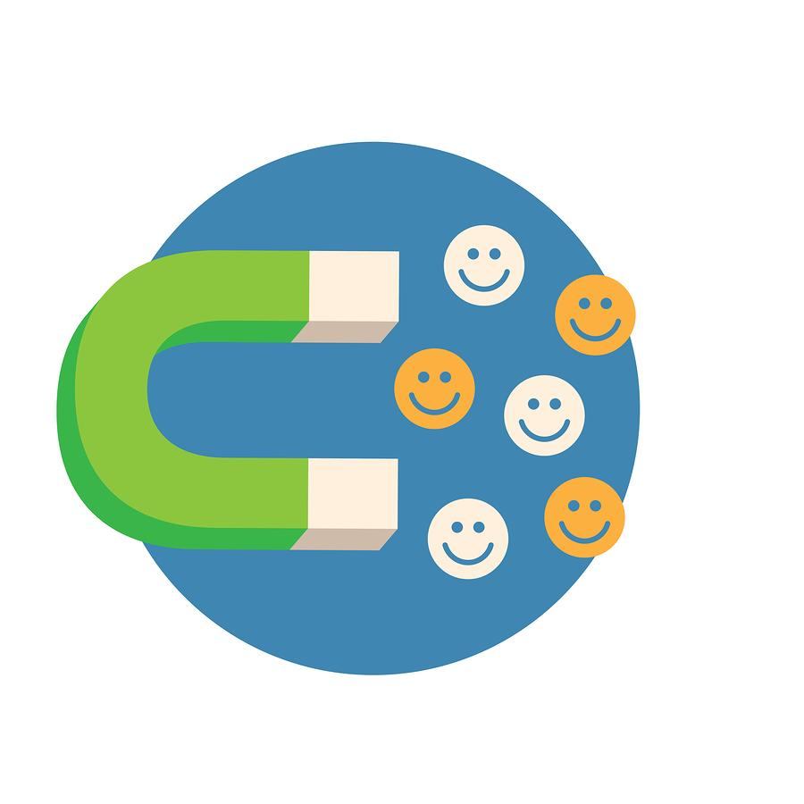 magnet attracting happy faces - lead quality