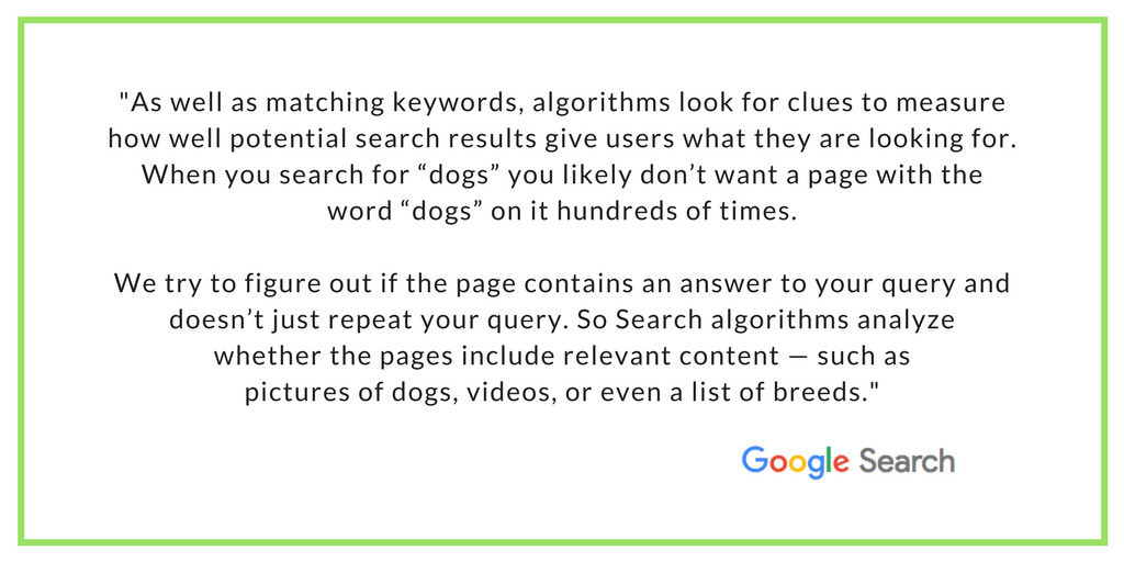 Explanation how Google Search works