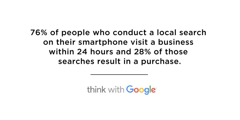 smartphone statistics local search