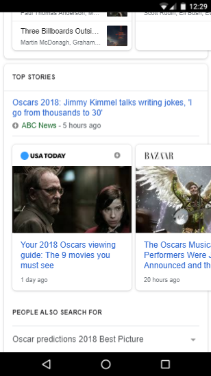 Google Top Stories Box (on Mobile)
