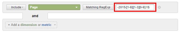 RegEx to filter dates YYYYDM