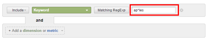 RegEx wildcard filter with asterisk