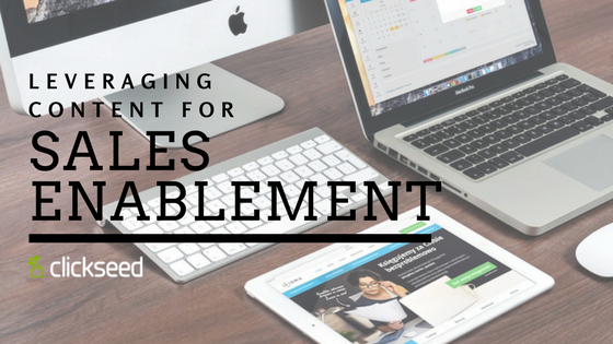 Leveraging Content for Sales Enablement